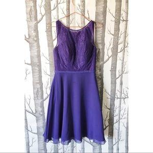 AZAZIE/ Regency Purple Midi Length Dress